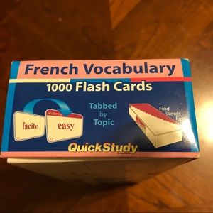 French Vocabulary 1000 flash cards. Quick Study.